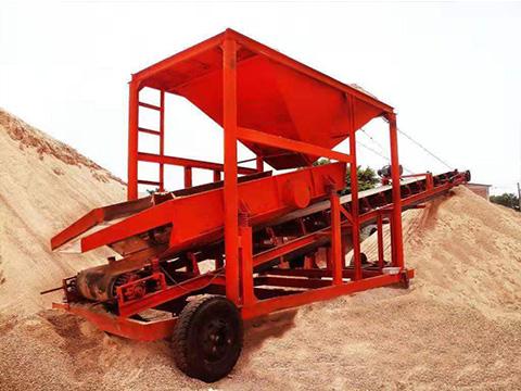 工地移动筛沙机