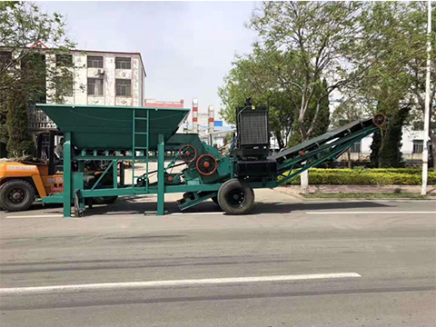移动制砂机械
