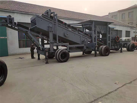云南大型轮胎式移动破碎站生产