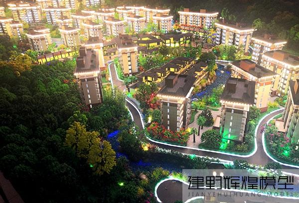 保山温泉酒店沙盘模型