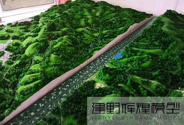 临沧部队缅北地形沙盘模型