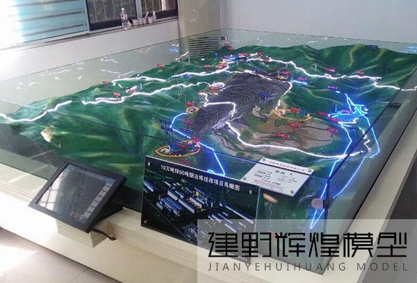 文山地形沙盘模型