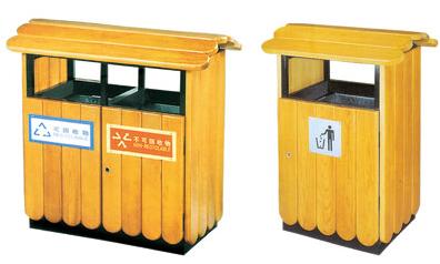 昆明钢木垃圾桶