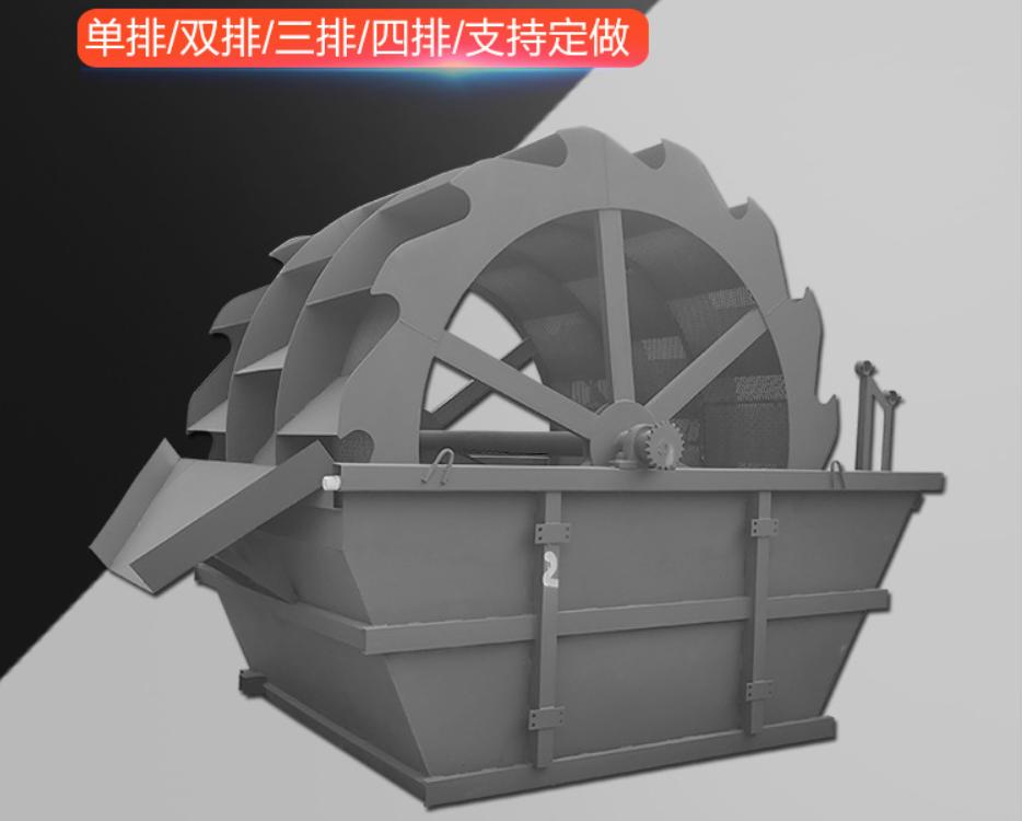 单轮斗洗砂机