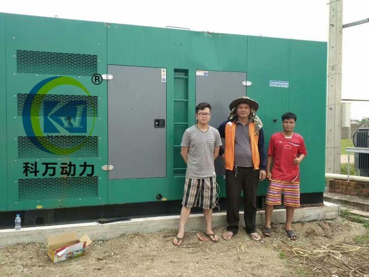 老挝出口高端工矿企业静音备用发电机组