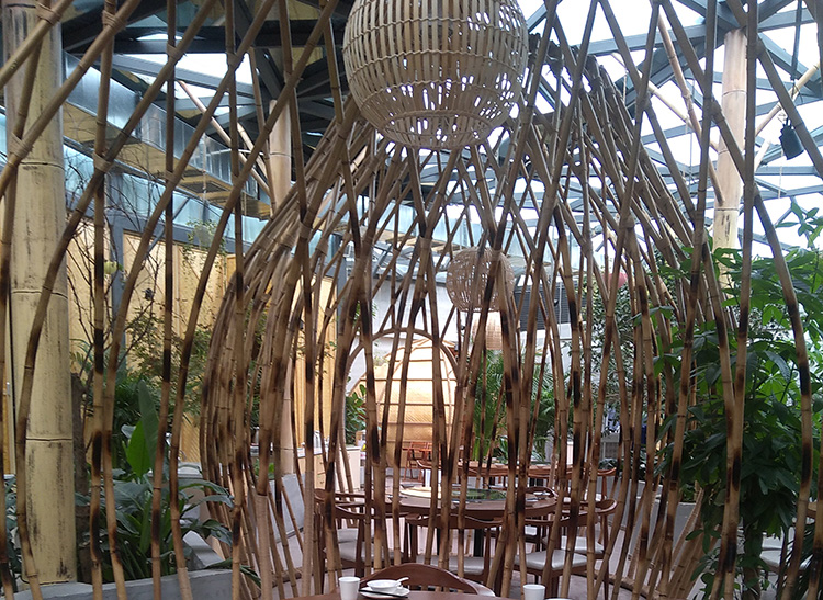 餐厅竹装饰