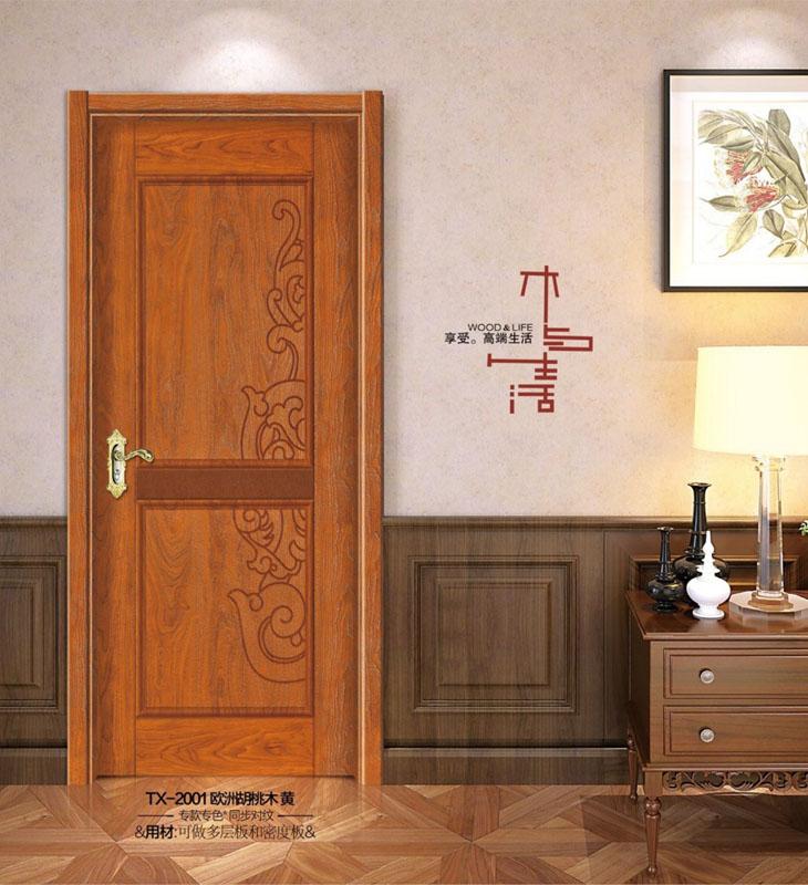 实木烤漆门-2001-胡桃木