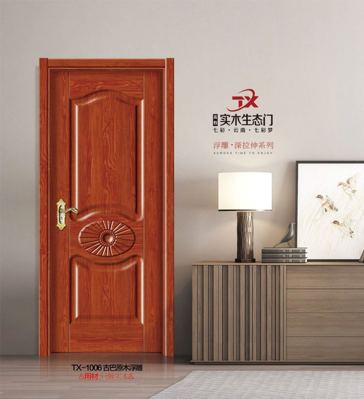 实木烤漆门-1006-古巴原木