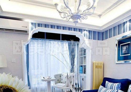 地中海風格窗簾工程