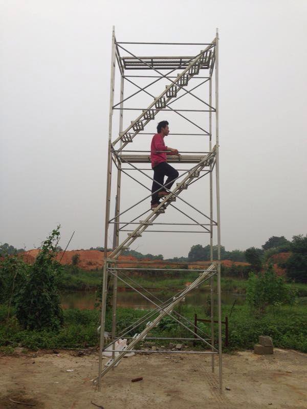 昆明轮扣式安全爬梯要如何进行搭设更安全
