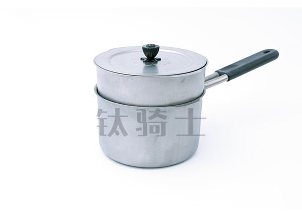 纯钛小汤锅(带蒸笼)