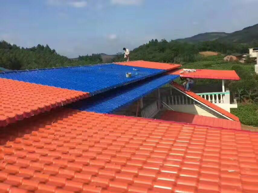 台灣樹脂瓦裝置案例