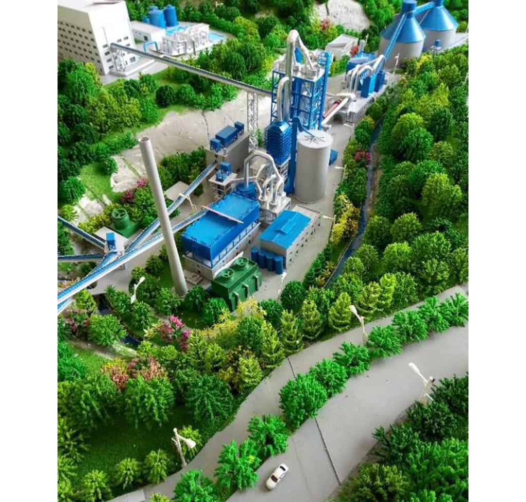 凤庆水泥厂沙盘模型