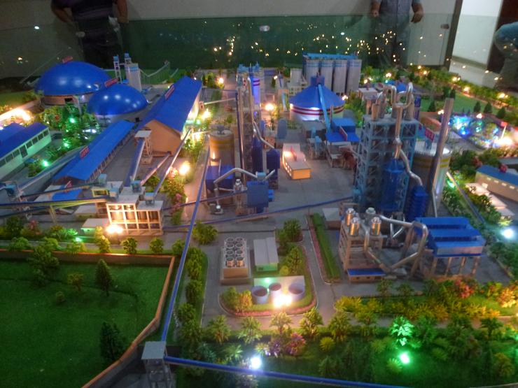 安宁昆钢水泥厂沙盘模型展示