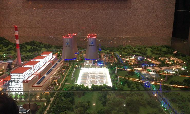 华能滇东电厂沙盘模型案例