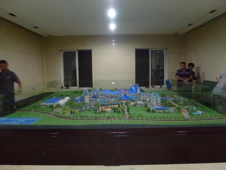 昆钢水泥厂沙盘模型制作案例