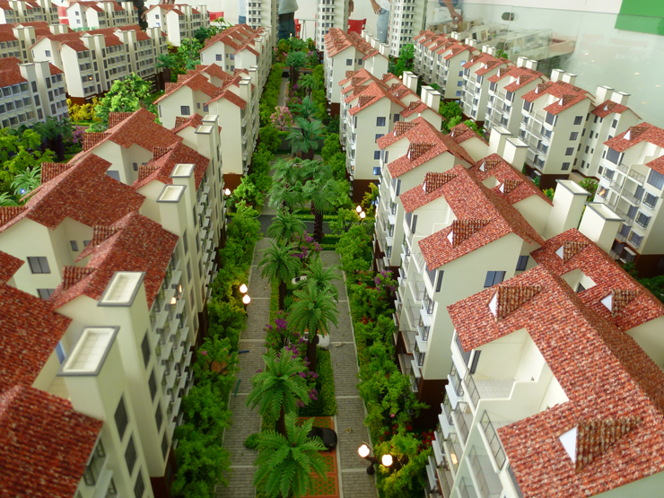 地产售楼模型的构思与材料上要别出心裁