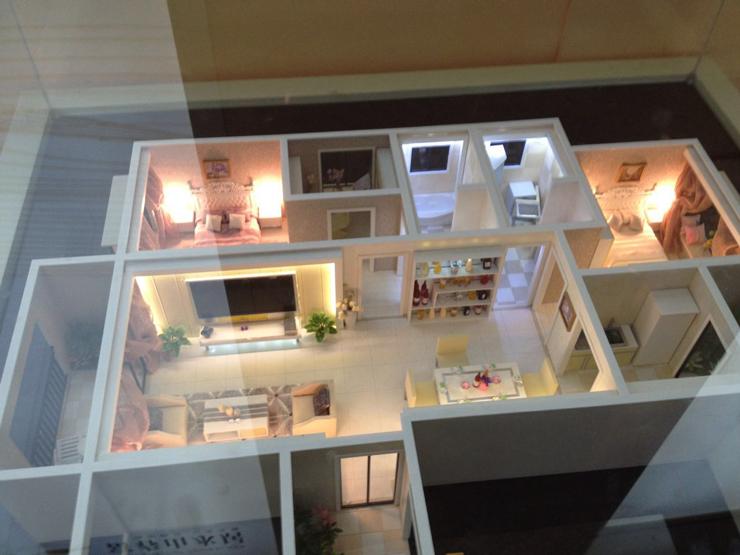 两室一厅户型沙盘模型