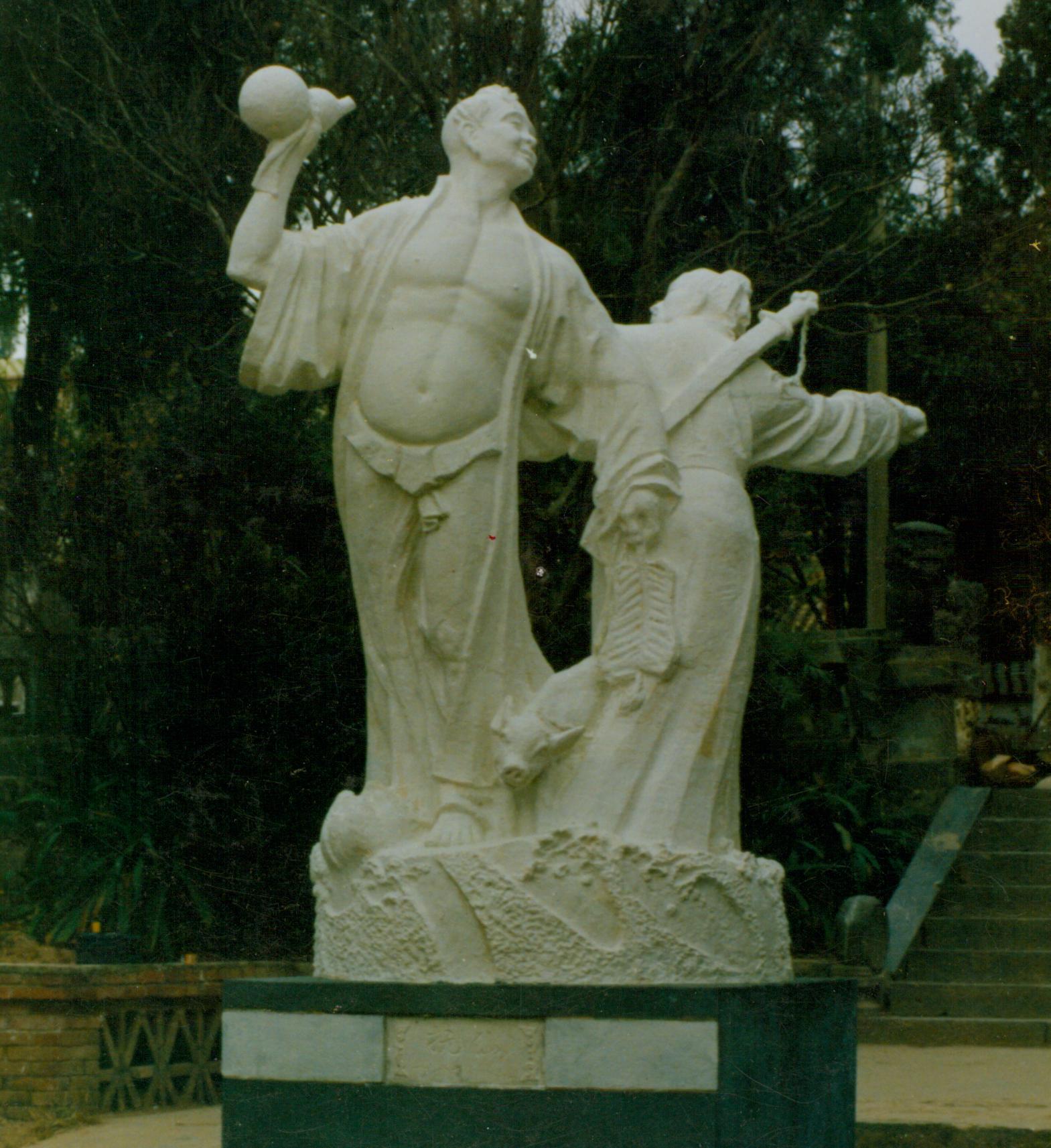 抚仙湖景区雕塑 - 八仙游湖