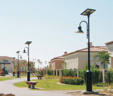 庭院太阳能灯案例展示
