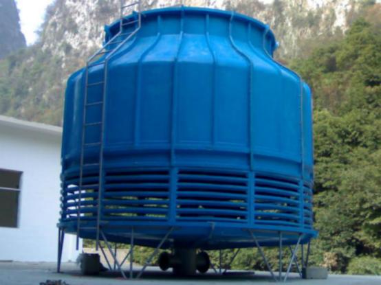 蓝色玻璃钢冷却塔