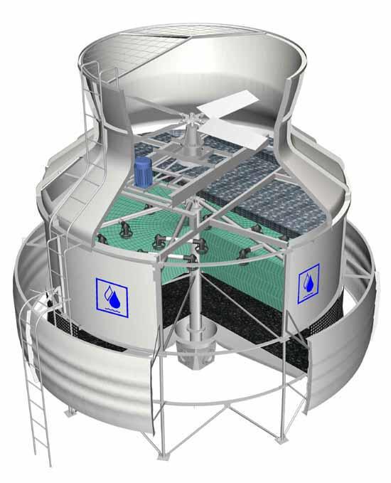 冷却塔结构图