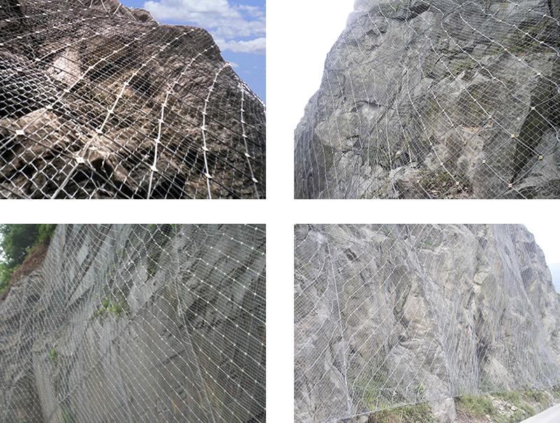 昆明柔性边坡防护网,SNS边坡柔性防护网