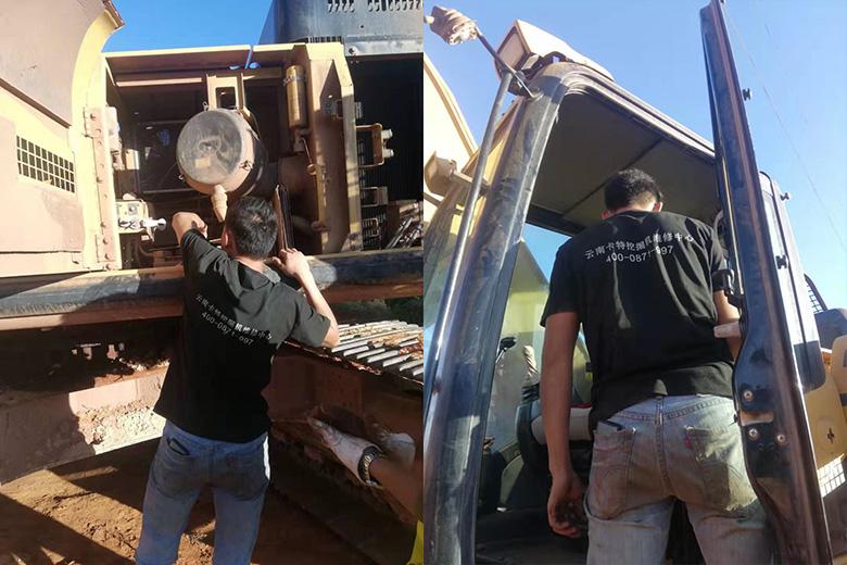 昆明卡特挖掘机维修点电话