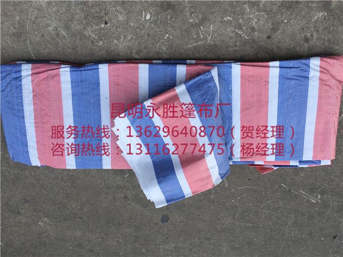 蓝红彩条布