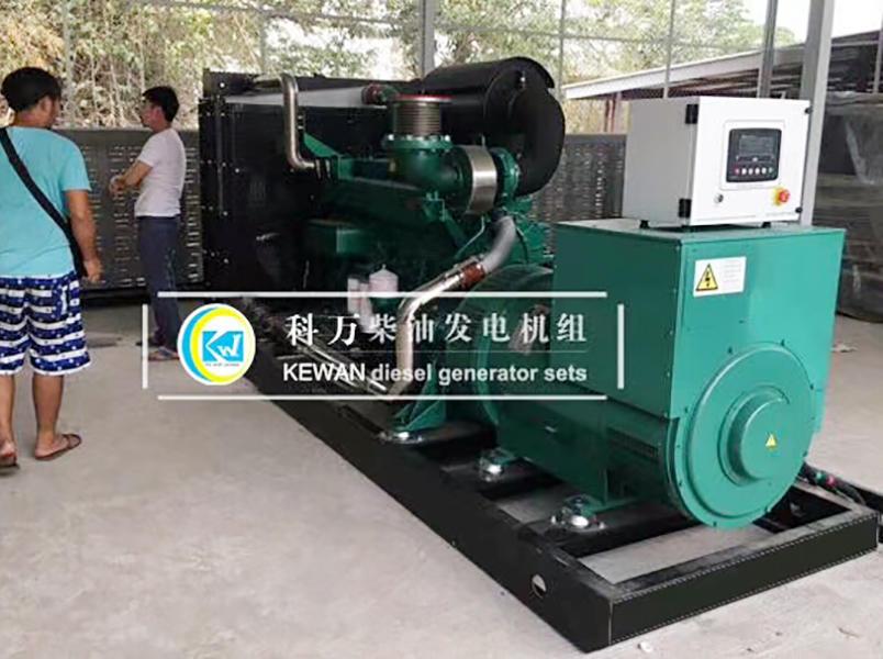 缅甸工矿企业备用500kw玉柴发电机组