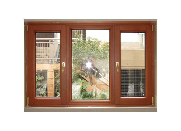 棕色铝合金门窗