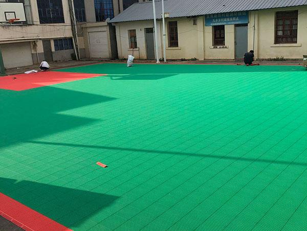 宜良农村能源环保站悬浮式地板施工