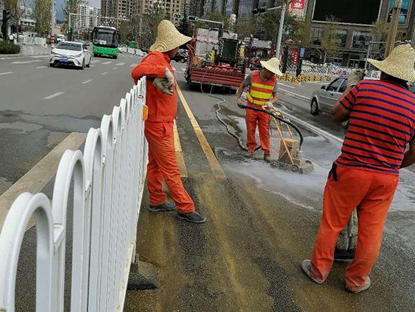 云南交通标线清除