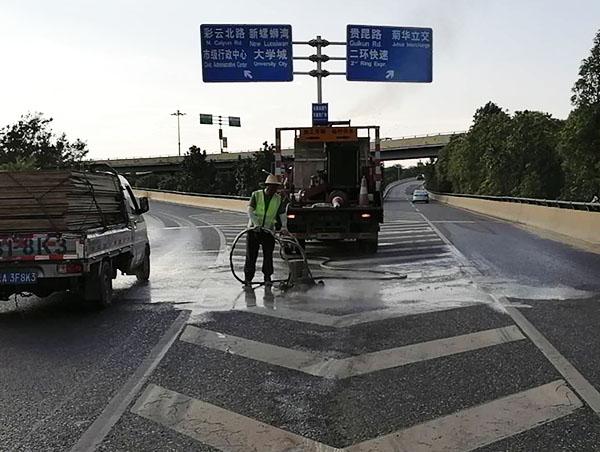高速路标线清除