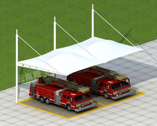 膜结构简易车棚