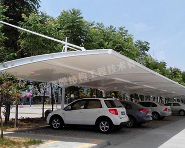 车棚膜结构建筑物