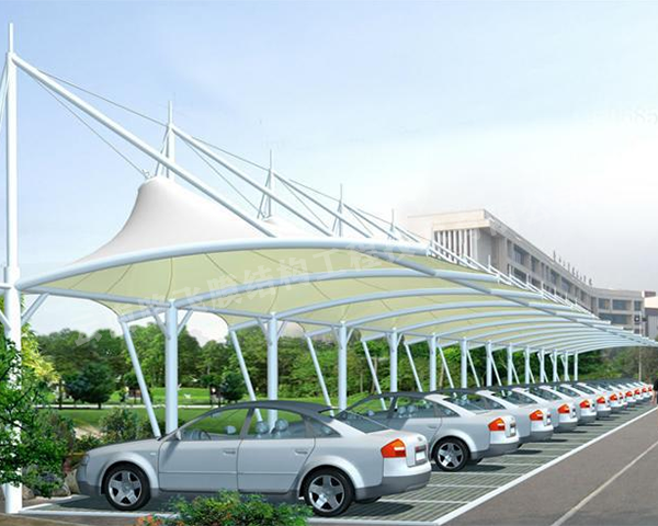 膜结构车棚景观棚