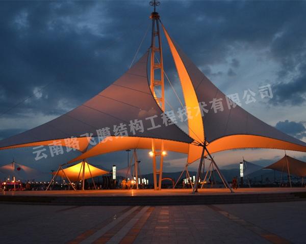 景观膜结构施工