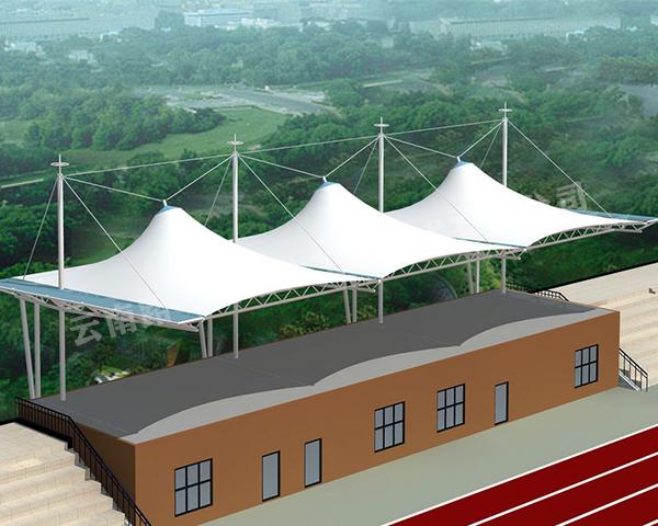 云南红河路飞膜结构工程在体育场的看台中有哪些应用?