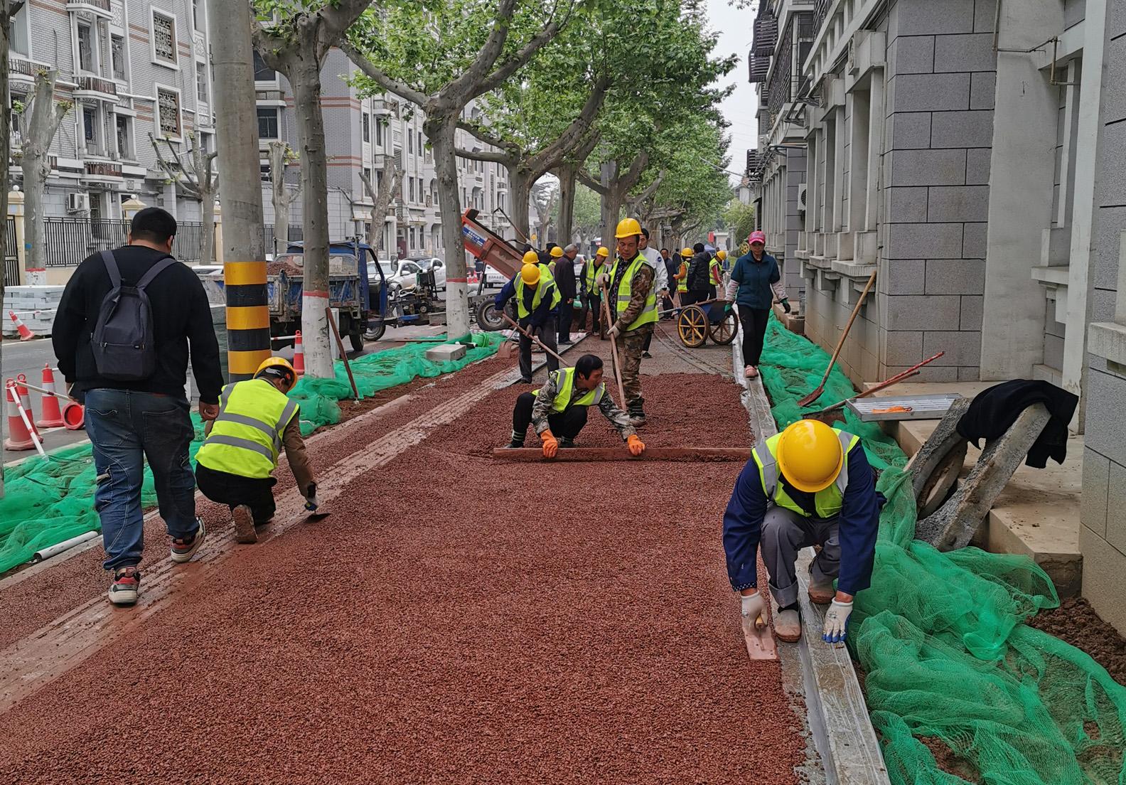 纺一路透水路面项目