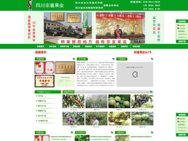 祝贺成都德汇缘网络有限公司与宗富李子苗基地达成百度快照推广合作协议