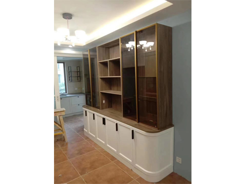 家装实木书柜