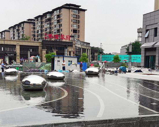 南京紫金华府不锈钢雕塑