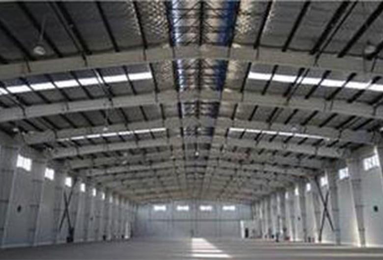 大跨度钢结构车间施工