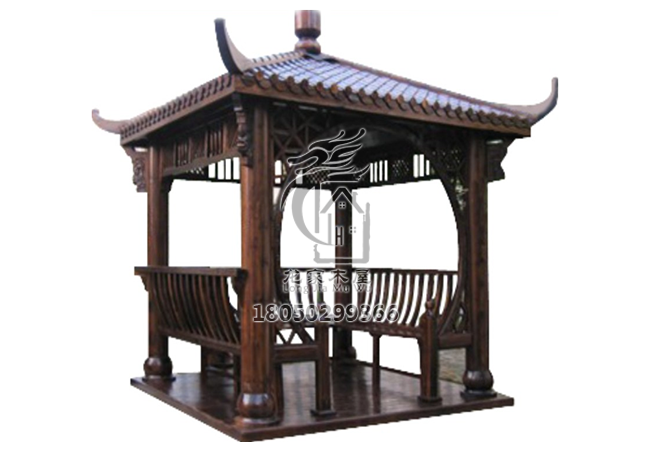 福州碳化木凉亭