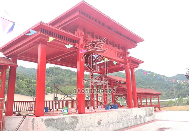少数民族木结构歌台