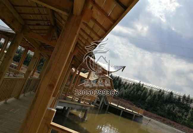 福州木结构水榭