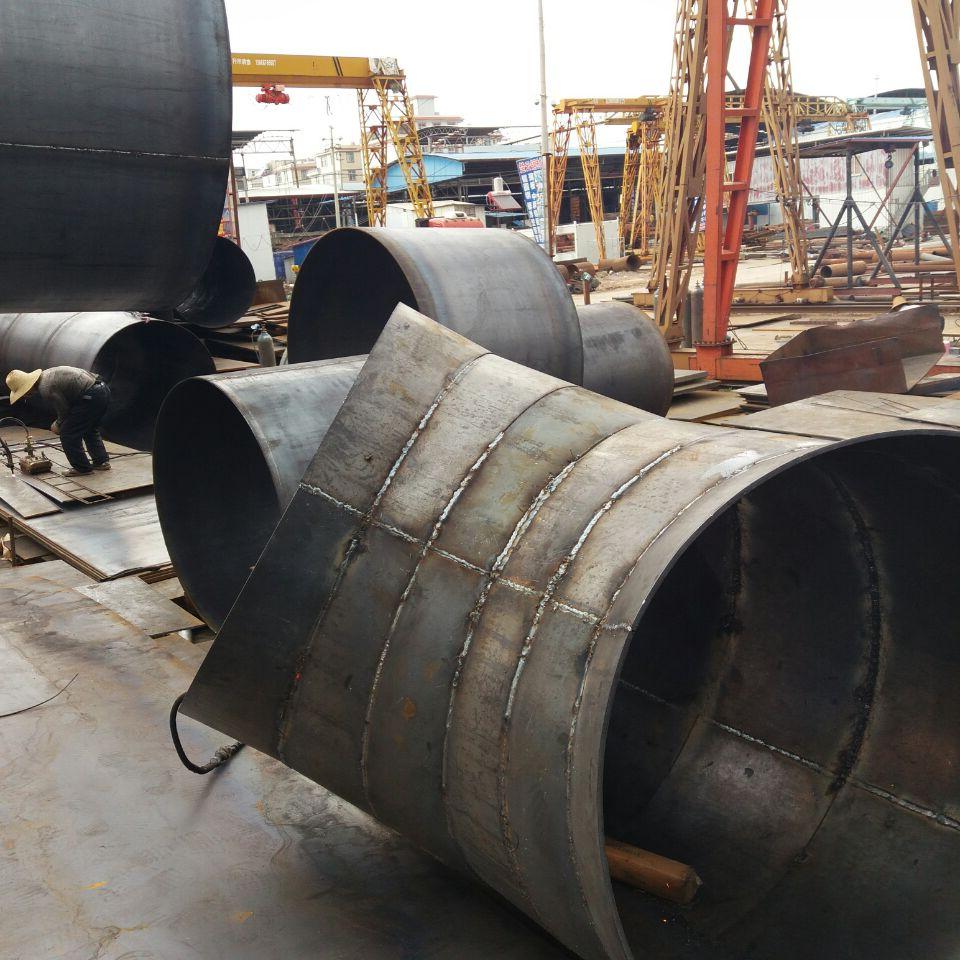 云南钢结构加工厂焊弯头成品