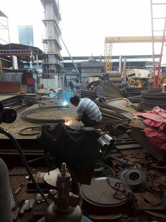 云南钢结构加工厂弯工字钢现场