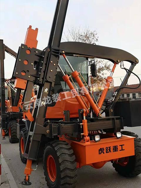 云南交通护栏打桩机